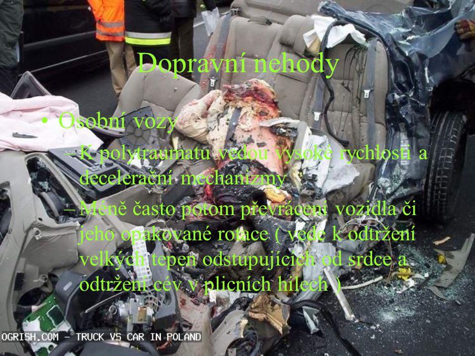 Dopravní nehody Osobní vozy