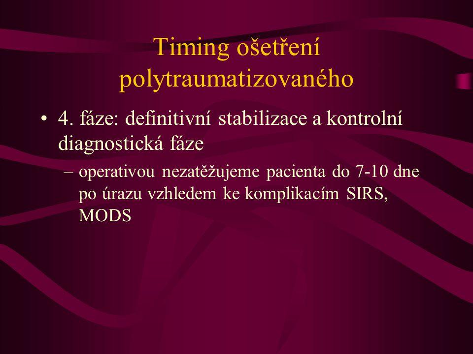 Timing ošetření polytraumatizovaného
