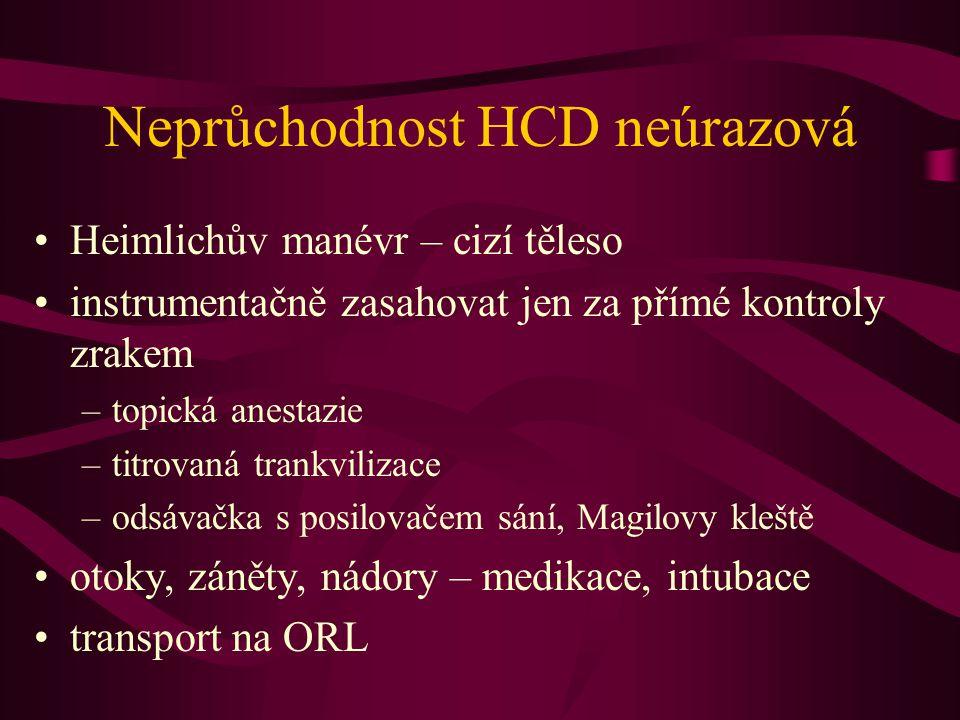 Neprůchodnost HCD neúrazová