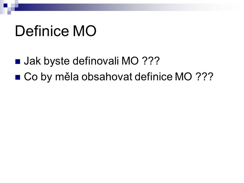 Definice MO Jak byste definovali MO