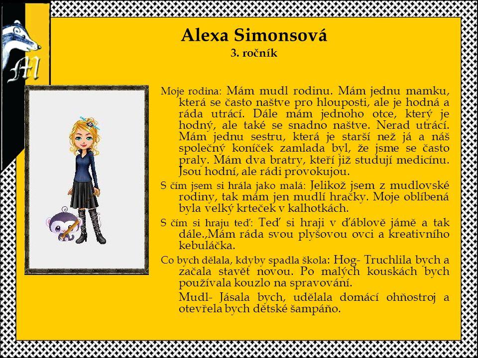 Alexa Simonsová 3. ročník