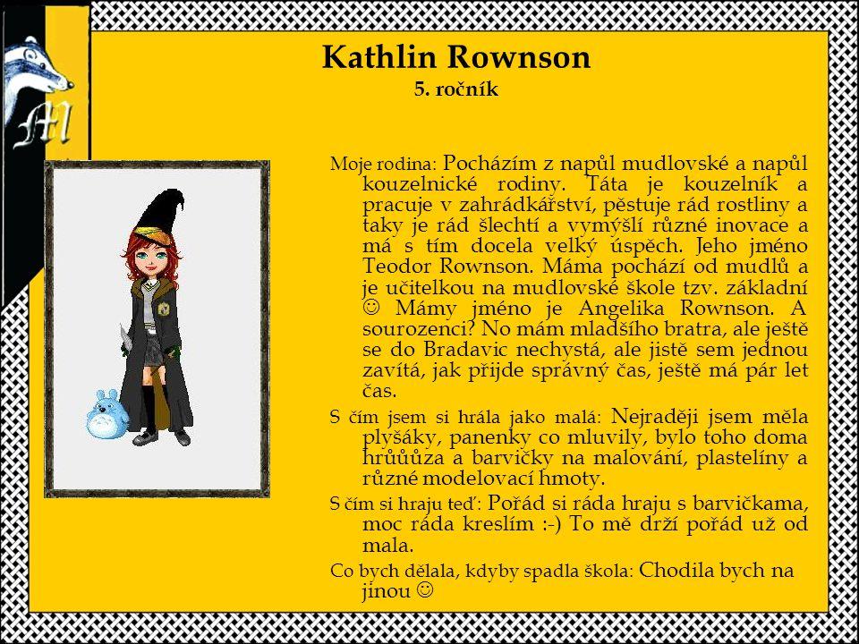 Kathlin Rownson 5. ročník