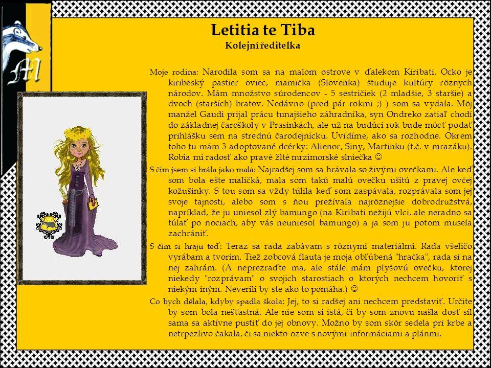 Letitia te Tiba Kolejní ředitelka
