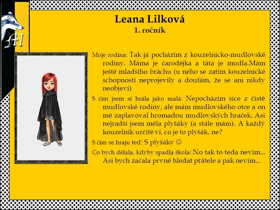 Leana Lilková 1. ročník