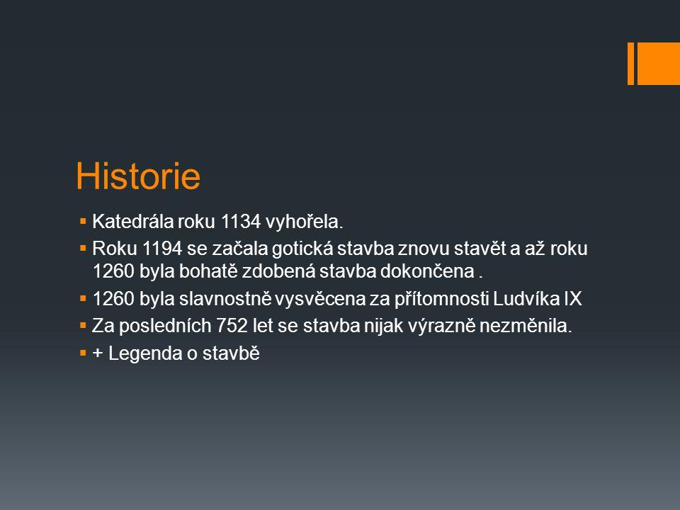 Historie Katedrála roku 1134 vyhořela.