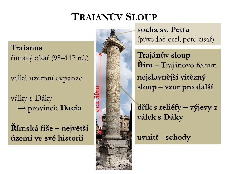 Traianův Sloup socha sv. Petra Traianus římský císař (98–117 n.l.)