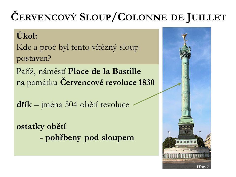 Červencový Sloup/Colonne de Juillet