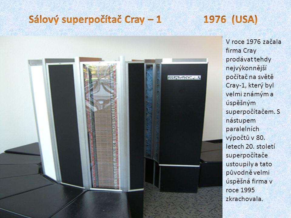 Sálový superpočítač Cray – 1 1976 (USA)