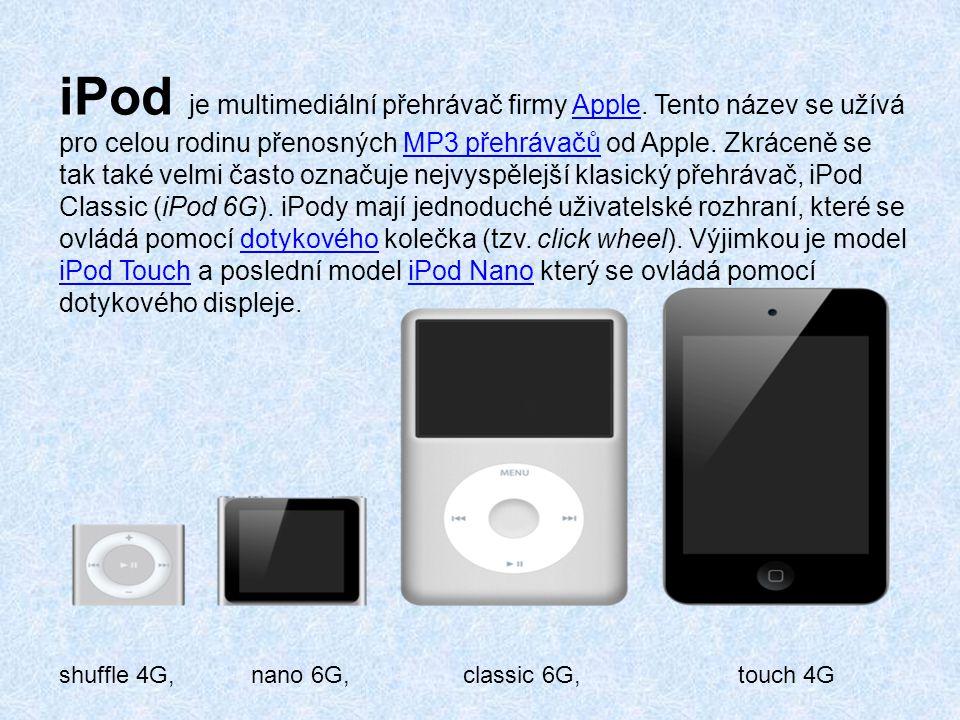 iPod je multimediální přehrávač firmy Apple
