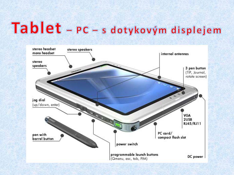 Tablet – PC – s dotykovým displejem