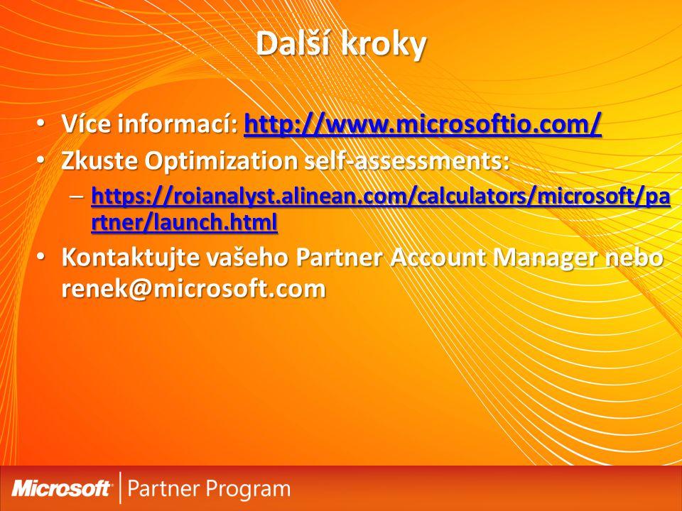 Další kroky Více informací: http://www.microsoftio.com/