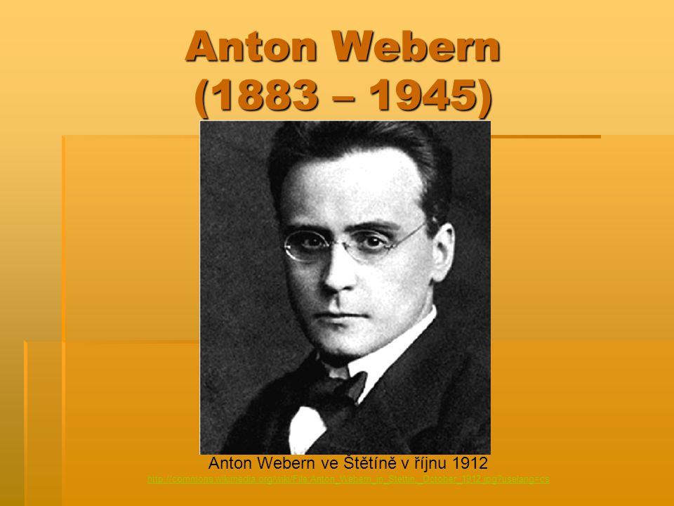 Anton Webern ve Štětíně v říjnu 1912