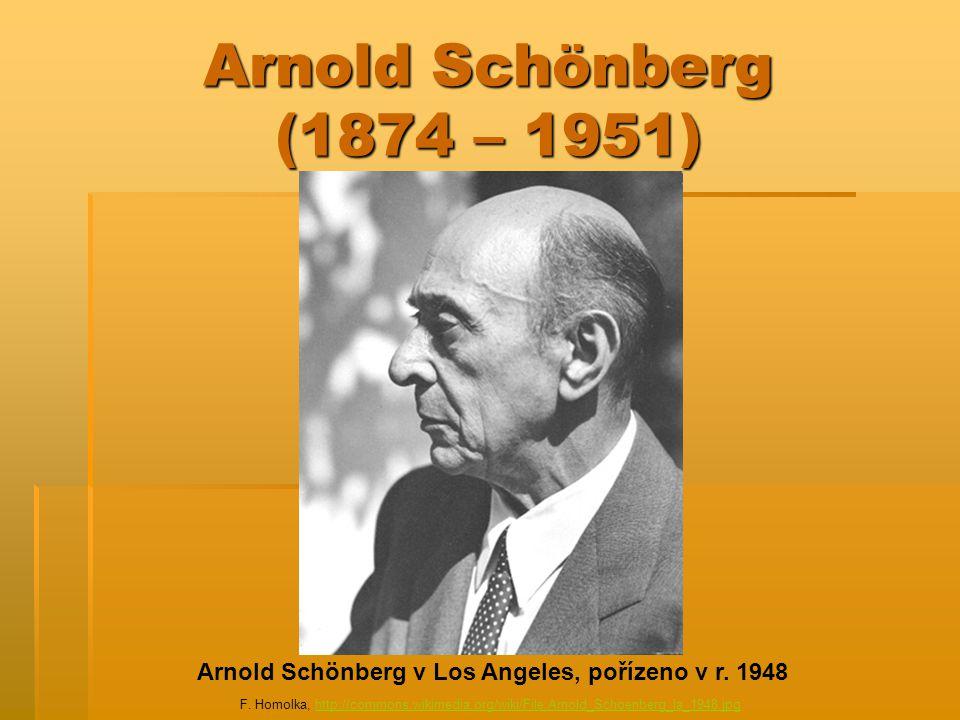 Arnold Schönberg v Los Angeles, pořízeno v r. 1948