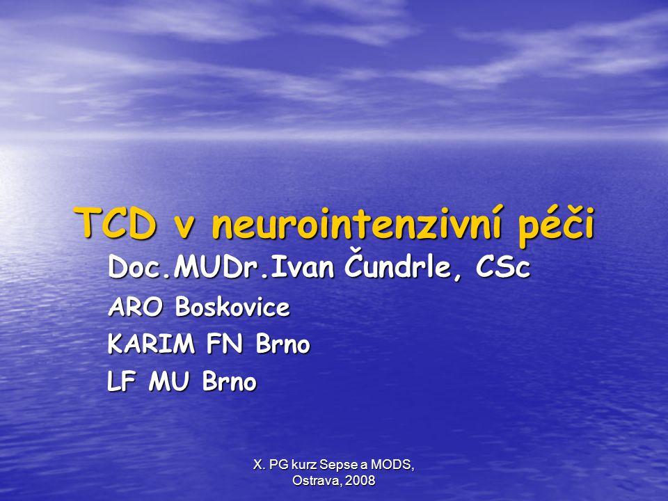 TCD v neurointenzivní péči