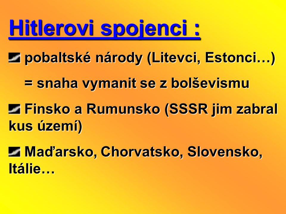 Hitlerovi spojenci : pobaltské národy (Litevci, Estonci…)