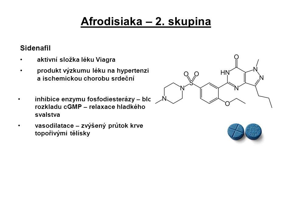 Afrodisiaka – 2. skupina Sidenafil aktivní složka léku Viagra