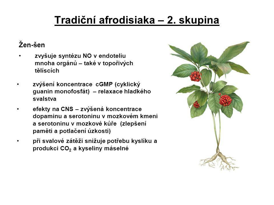Tradiční afrodisiaka – 2. skupina