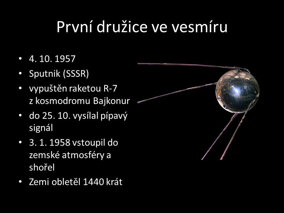 První družice ve vesmíru