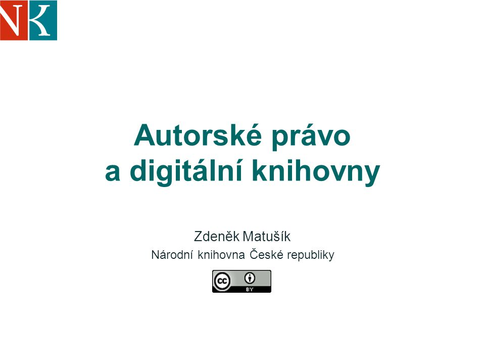 Autorské právo a digitální knihovny