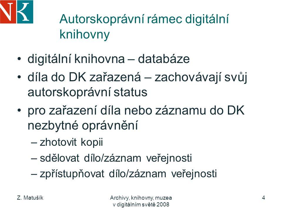 Autorskoprávní rámec digitální knihovny