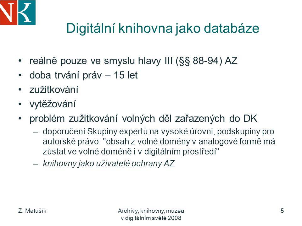 Digitální knihovna jako databáze