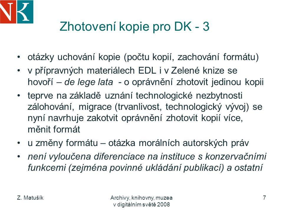 Zhotovení kopie pro DK - 3