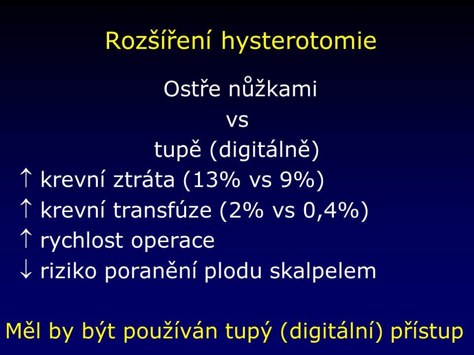 Rozšíření hysterotomie