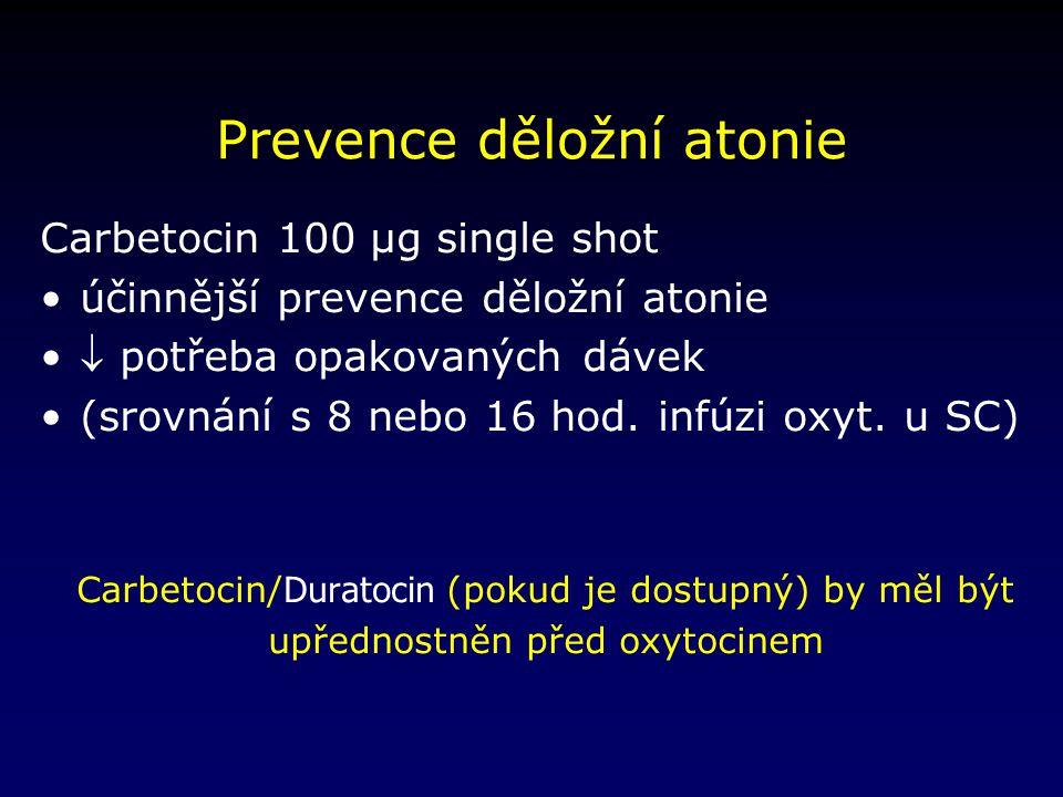 Prevence děložní atonie