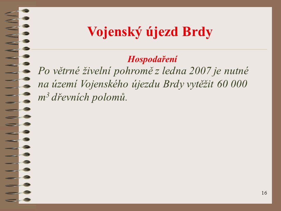 Vojenský újezd Brdy Hospodaření.