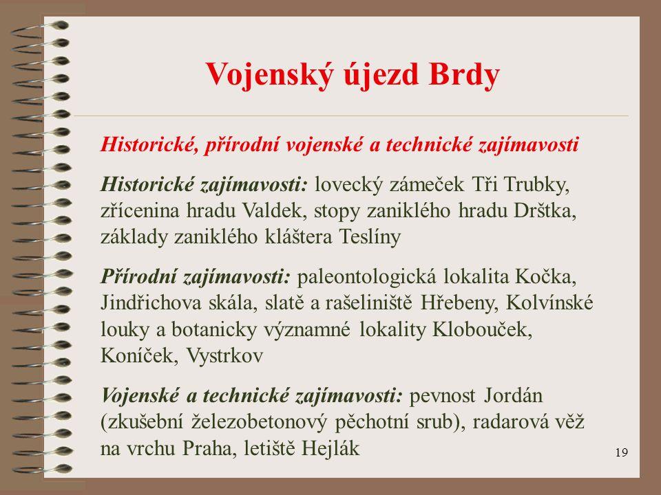 Vojenský újezd Brdy Historické, přírodní vojenské a technické zajímavosti.