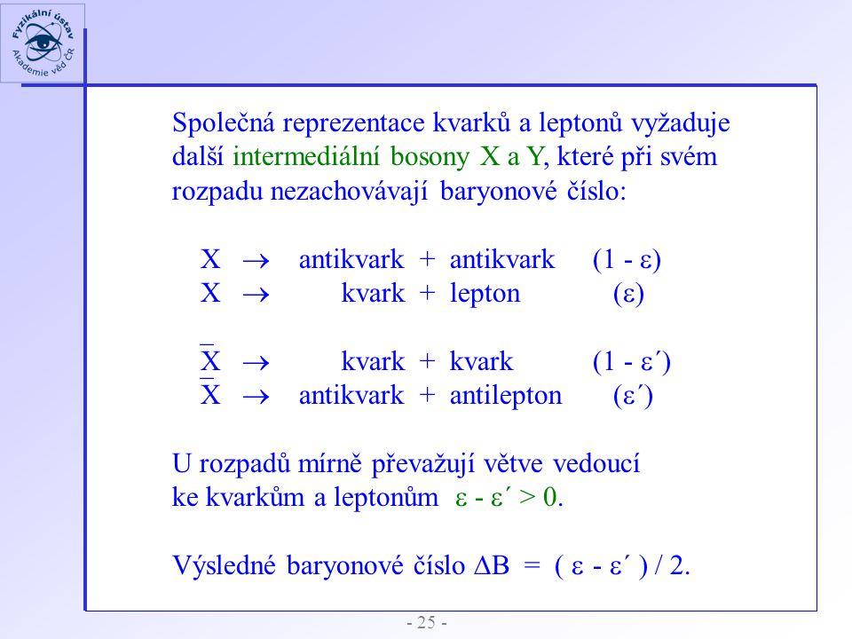 Společná reprezentace kvarků a leptonů vyžaduje