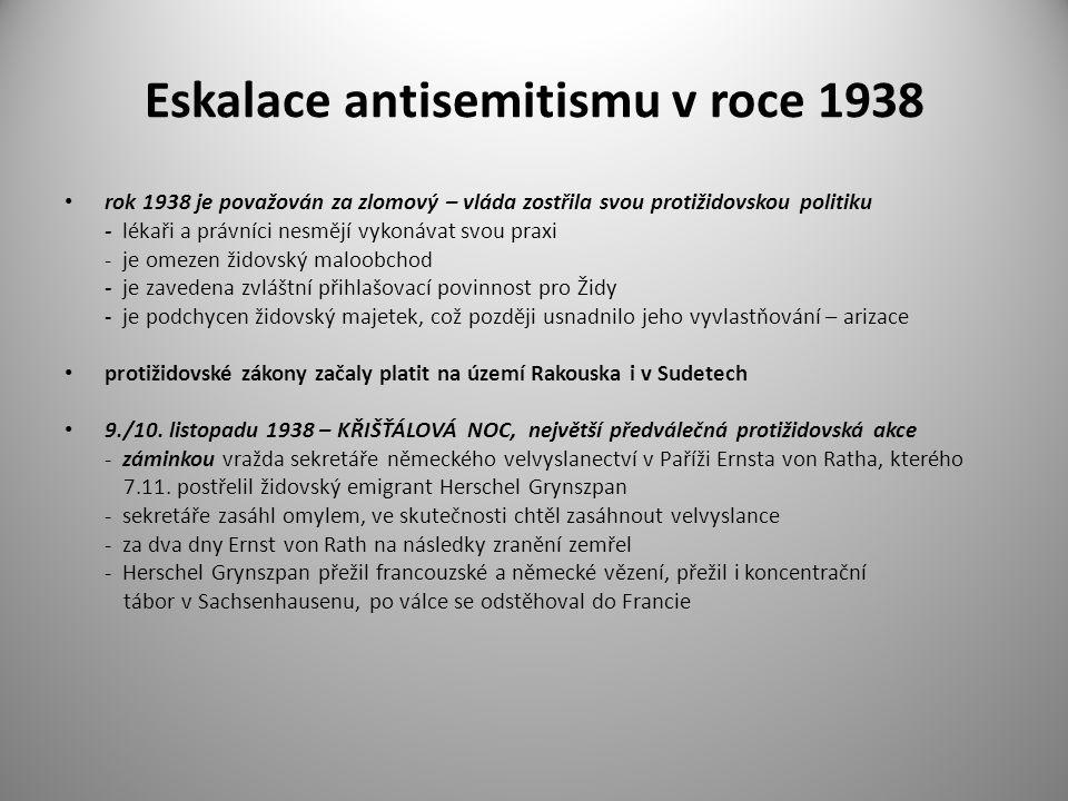Eskalace antisemitismu v roce 1938