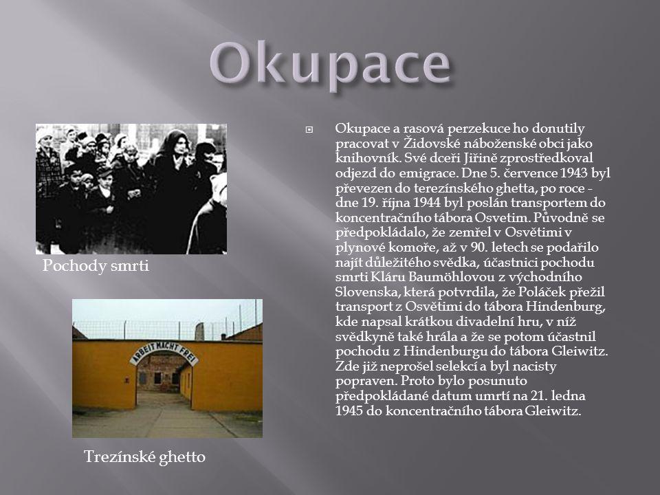 Okupace Pochody smrti Trezínské ghetto
