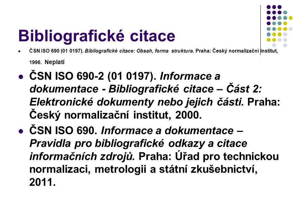 Bibliografické citace