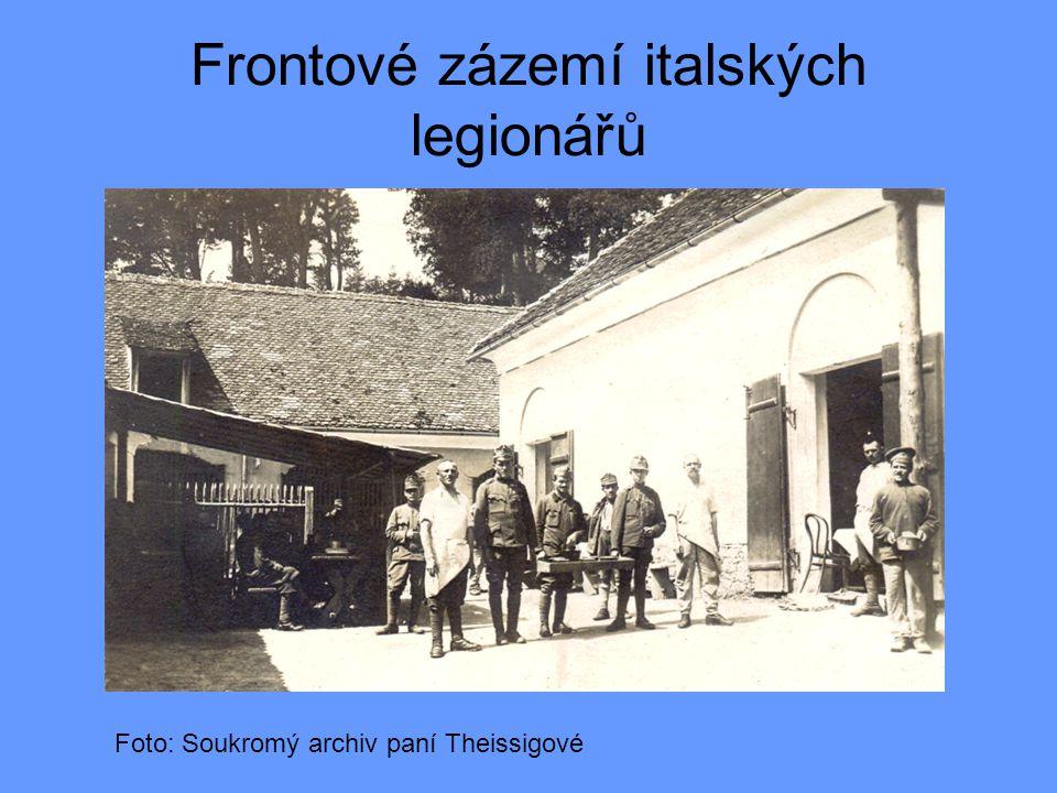 Frontové zázemí italských legionářů