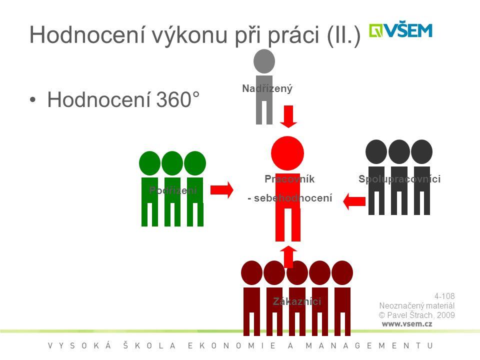 Hodnocení výkonu při práci (II.)