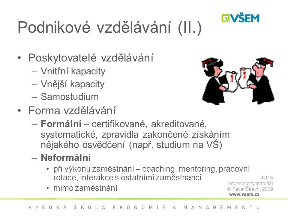Podnikové vzdělávání (II.)