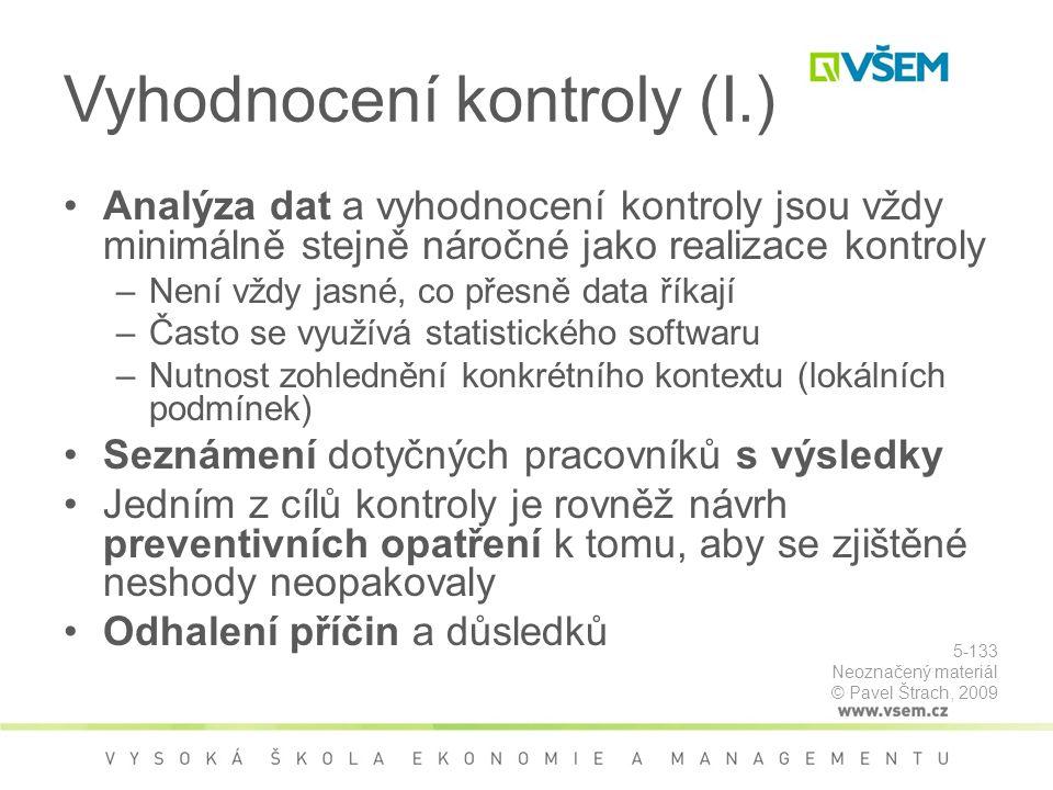Vyhodnocení kontroly (I.)