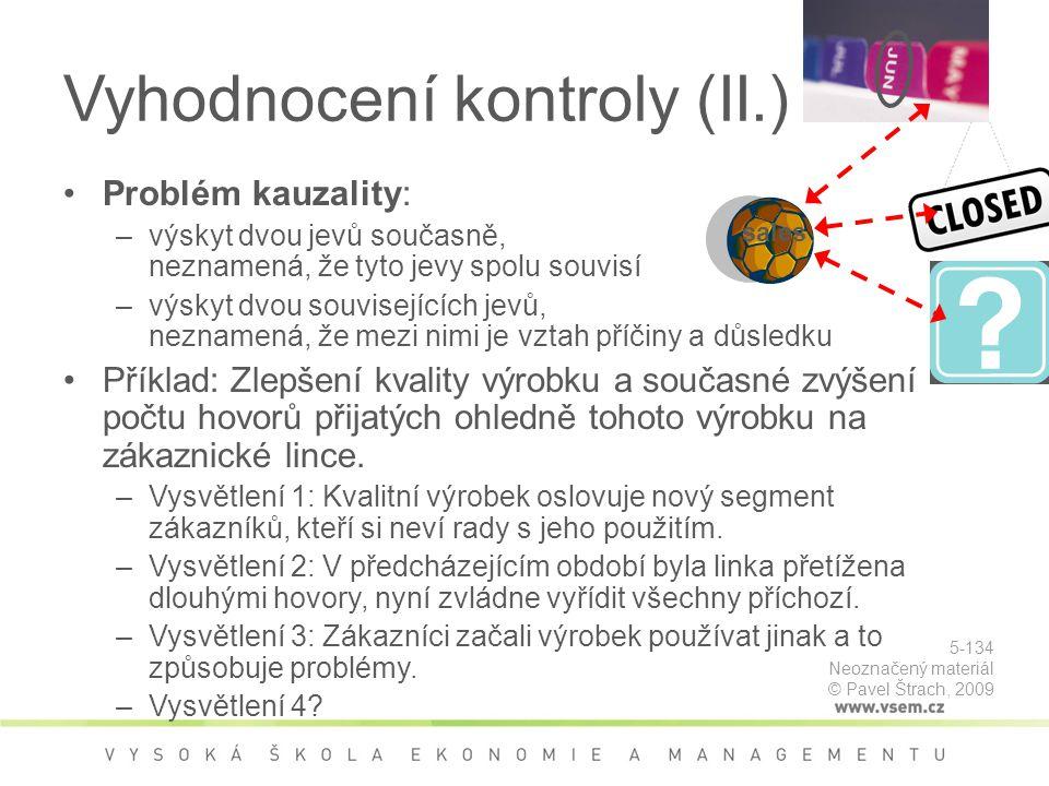 Vyhodnocení kontroly (II.)