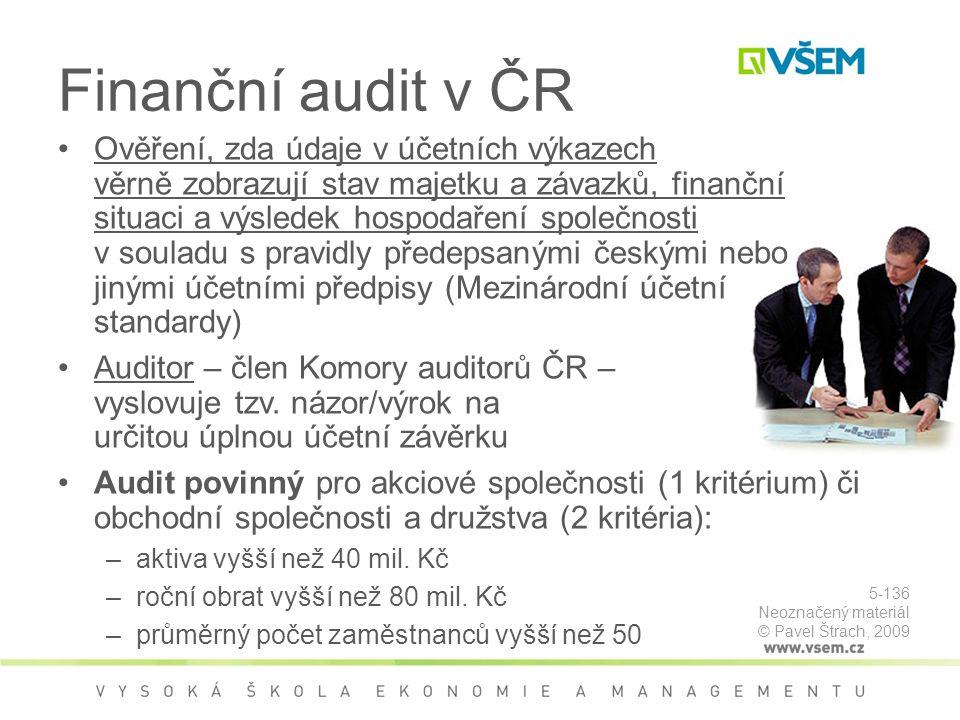 Finanční audit v ČR
