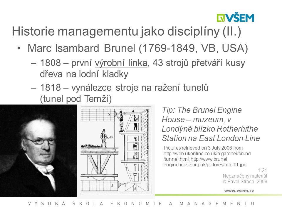 Historie managementu jako disciplíny (II.)