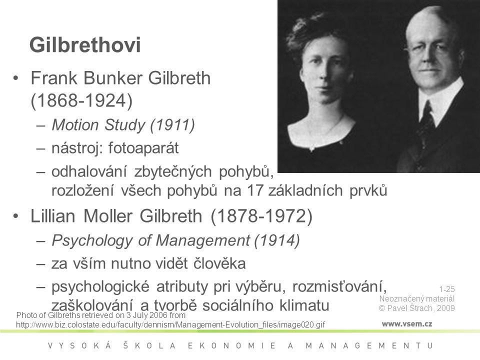 Gilbrethovi Frank Bunker Gilbreth (1868-1924)
