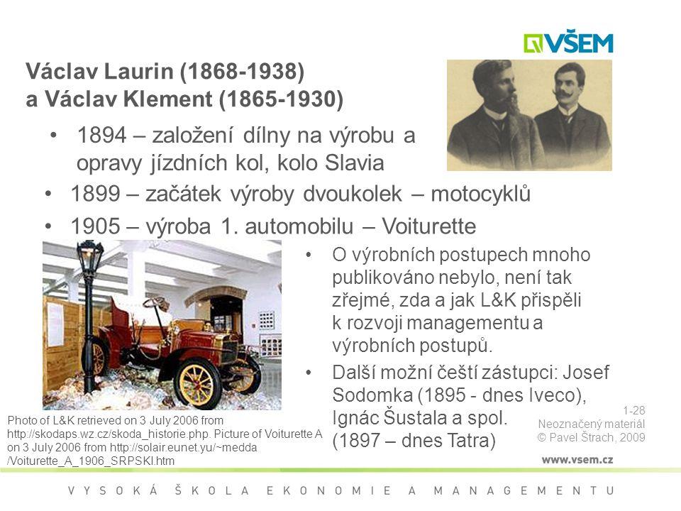 Václav Laurin (1868-1938) a Václav Klement (1865-1930)