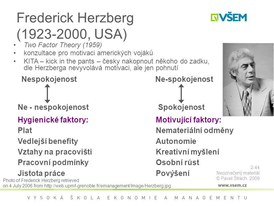 Frederick Herzberg (1923-2000, USA)