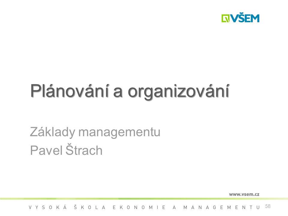 Plánování a organizování