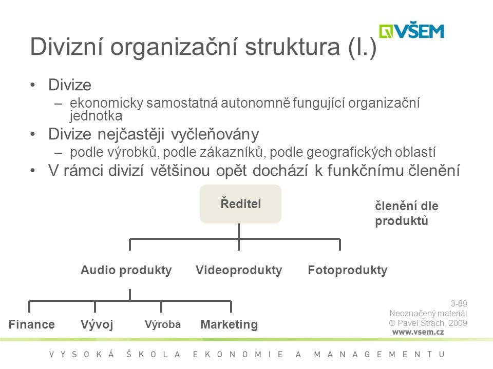 Divizní organizační struktura (I.)