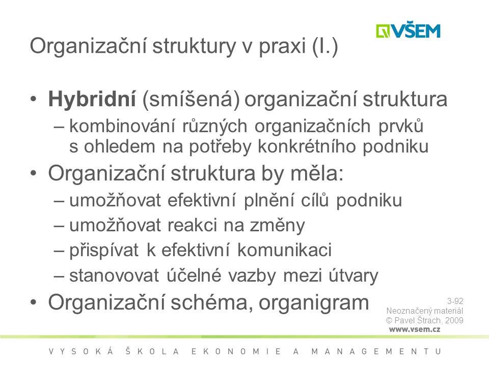 Organizační struktury v praxi (I.)