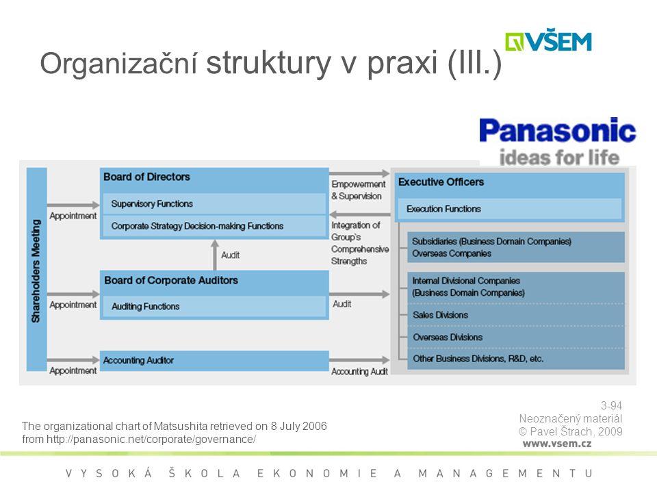 Organizační struktury v praxi (III.)