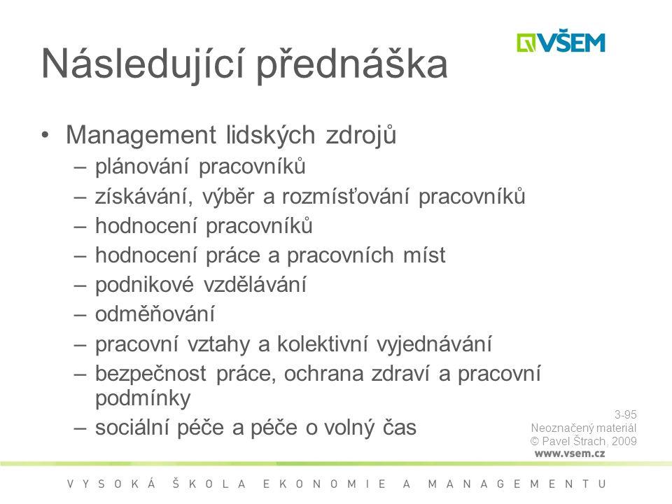 Následující přednáška