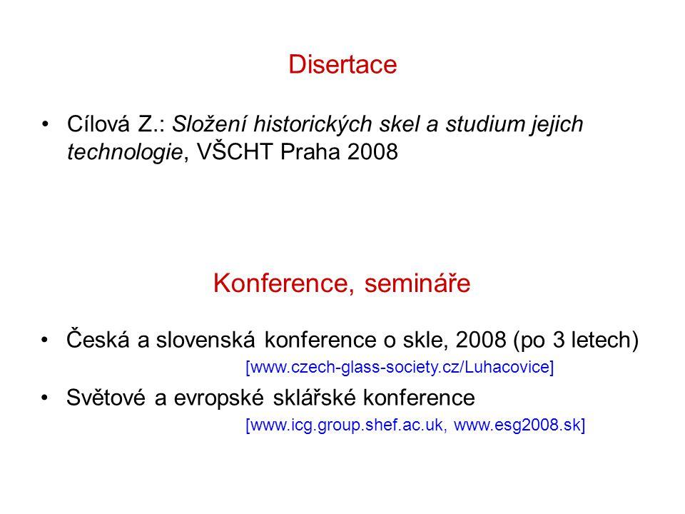 Disertace Konference, semináře